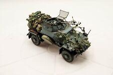 Escala 1/35 SD KFZ 221 automóvil blindado Construido y pintado listo para una pantalla diorama/