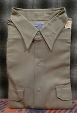 Vintage 50's Hercules Sears Rough-Shod Army Twill Work Shirt Sanforized 16 Gray