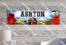 Personalized/Customized Elmo Name Poster Wall Art Decoration Banner
