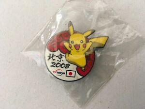 2008 BEIJING OLYMPIC JAPAN MEDIA PIN BADGE JAPANESE TV TOKYO PIKACHU PINS