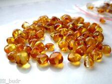 Runde Bernstein Poliert Naturbernstein gebohrt auffädeln 50 perlen