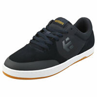 Etnies Marana Mens Navy White Leather & Synthetic Skate Trainers