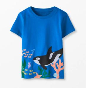 NWT HANNA ANDERSSON Blue Art Tee T-Shirt Whale Ocean Underwater Short Sleeve 2T