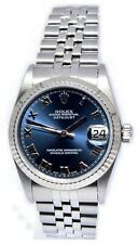 Rolex Datejust Steel 18k White Gold Bezel Roman Dial Midsize 31mm Watch U 68274