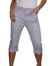 ICE Womens High Waist Capri 3/4 Length Stretch Jeans Chino Sheen 10-20