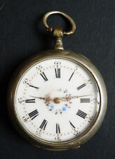 Montre de gousset en argentan ART NOUVEAU 1900 silver pocket watch