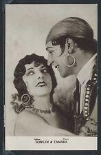 UK London RPPC 1926 FOWLER & TAMARA American Ball Room Dancing Duo DANCERS Stars