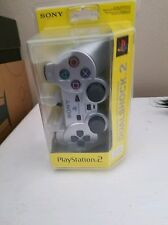 Sony Playstation 2 DUALSHOCK 2 Controller PS2 NEW RARE Satin Silver Analog NIB