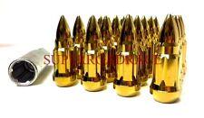 NNR BULLET/SPIKED TIP STEEL 12X1.5 LUG NUT SET OF 20 GOLD