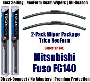 2pk Super-Premium NeoForm Wipers fit 2005-2011 Mitsubishi Fuso FG140 16210x2