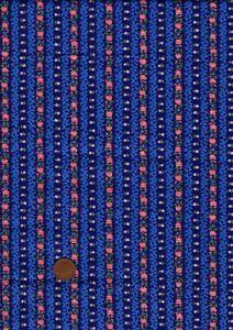 100% Cotton Fabric Striped Pink Dark Blue Tiny Floral & Leaf  Patchwork Craft