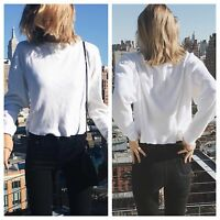 Brandy Melville White Waffle print  long sleeve Laila thermal top NWT sz S/M