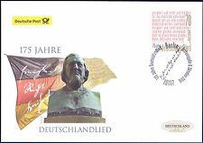 BRD 2016: Deutschlandlied 175 Jahre Post-FDC Nr. 3263 mit Berliner Stempel! 1701