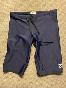 Men's TYR Blue Jammers Racing Swimsuit Compression Shorts 28