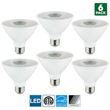 6 Pack Sunlite LED PAR30S Spotlight, 10W, 4000K Cool White, Medium Base