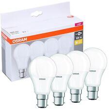 OSRAM 4 PCS LED Warm White Light Bulb Set A+ Energy Class Bayonet Base Fitting