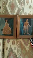 vintage copper framed 8x10 pair man and woman hammer art