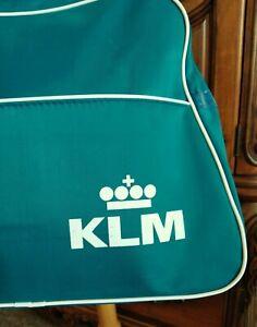 VINTAGE KLM Travel Bag   Royal Dutch Airlines Shoulder Tote Case Carry-On  Large