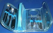 Simple Pleasures Manicure Brush Travel Set 8 Pieces Metallic Shiny Blue Gift New