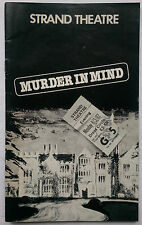 MURDER IN MIND.TERENCE FEELY.PROGRAMME TICKET 1982.NYREE DAWN PORTER.ROY DOTRICE