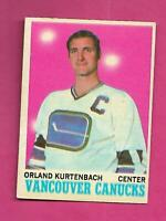 1970-71 OPC # 117 CANUCKS ORLAND KURTENBACH EX+ CARD (INV# C8940)