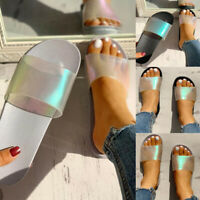 Fashion Women Shoes Trendy Laser Sandals Slides Beach Pool Summer Slippers Lady