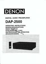 Denon user manual Bedienungsanleitung für DAP- 2500 englisch  Copy