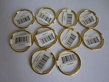"Lot of 10 Gold Metal Brass Macrame Craft Dreamcatcher Rings 2"" Inch Diameter"
