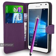 púrpura Funda Tipo Cartera Cuero Artificial libro para Nokia / Microsoft Lumia