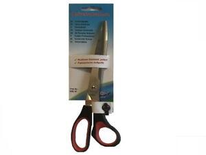 Büroschere 25,5cm schwarz rot für Rechtshänder Schere Edelstahl Griff gummiert