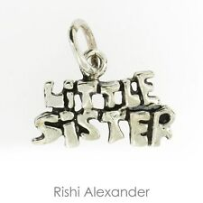 925 Sterling Silver Little Sister Charm
