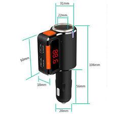 FM Transmiter Dual USB Car Charger Bluetooth MP3 Handsfree Cigarette Lighter