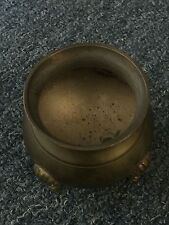 Old copper incense burner, height 6.5 cm.