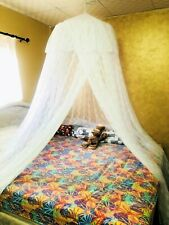 Lace Canopy Hanging Wire Dome Mosquito Net King Bed Size