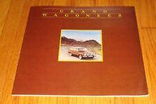 Original 1984 Jeep Grand Wagoneer Sales Brochure