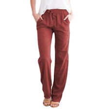 Womens Drawstring Loose Pants Jogger Wide Leg Casual Summer Trousers Lounge Wear