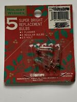 2.5V SUPER BRIGHT Replacement Light Bulbs for Push - in sets Vintage