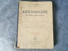 AIDE-MEMOIRE DE L'ELEVE DESSINATEUR - 1949 -