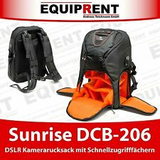 Sunrise dcb-206 DSLR Camera Backpack/Foto Zaino/Zaino Fotocamera (eq838)