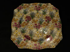 "NICE ROYAL WINTON ""MARQUERITE"" CHINTZ 9"" SQUARE PLATE"