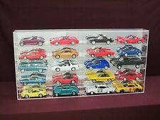 1/18 Scale Diecast Display Case, 20 Car Mirror Back