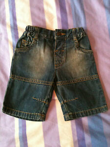 Boys Jean Shorts - Blue - Size: Newborn