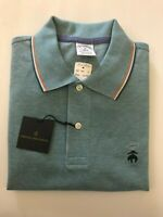 NWT BROOKS BROTHER 1818 PERFORMANCE POLO SLIM FIT POLO S/S GREEN SZ M_2XL $69.50