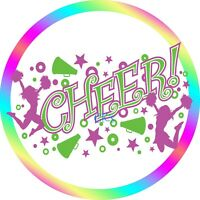 Cheerleading 7 Inch Edible Image Cake & Cupcake Toppers/ Birthday/ Party