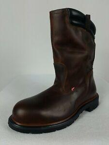 Red Wing Dynaforce Work Boots Men's 10.5 B Brown Leather Steel Toe Waterproof