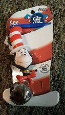 DR SEUSS Cat in the Hat Movie Bell Necklace with Blue Tie.