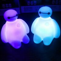Baymax Action Figures Colorful Light Cute Table Bedroom Decoration Amazing Child