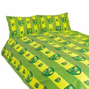 Norwich FC Double Duvet and Pillowcase Set Pinstripe Design