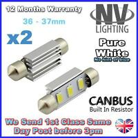 2x 3 SMD LED 36mm 239 272 CANBUS ERROR WHITE NUMBER PLATE LIGHT FESTOON BULB UK