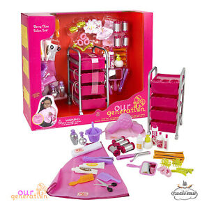 NEW OUR GENERATION Doll - BERRY NICE Beauty SALON Accessory Play Set 46cm/18inch